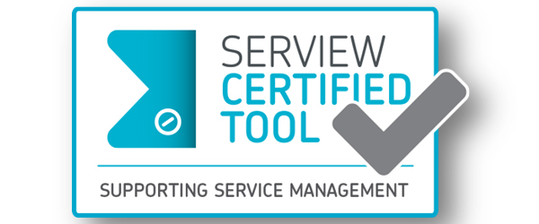 iET® ITSM proves its practical benefits by gaining the SERVIEW CERTIFIEDTOOL seal of approval in the 'Supporting Service Management' category
